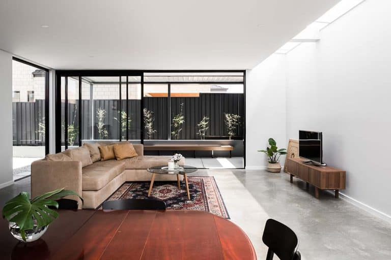 Industrial Architectural Decorative Concrete Lounge Room- Polished Concrete Perth