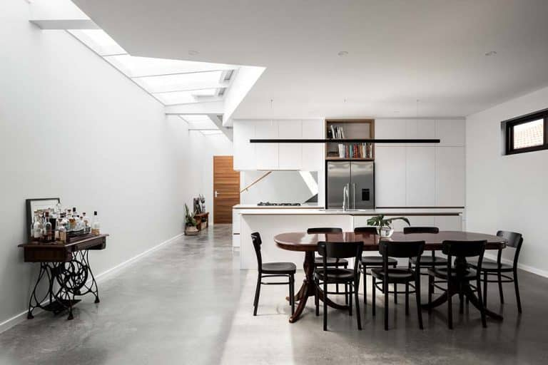 Industrial Architectural Decorative Concrete Kitchen and Dining Room- Polished Concrete Perth- DS Grinding