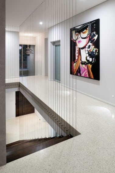 Full Exposed Aggregate Decorative Concrete Hallway- Polished Concrete Perth- DS Grinding