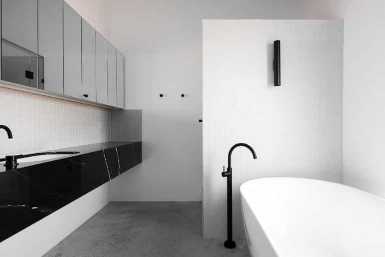 Industrial Architectural Decorative Concrete Bathroom- Polished Concrete Perth- DS Grinding