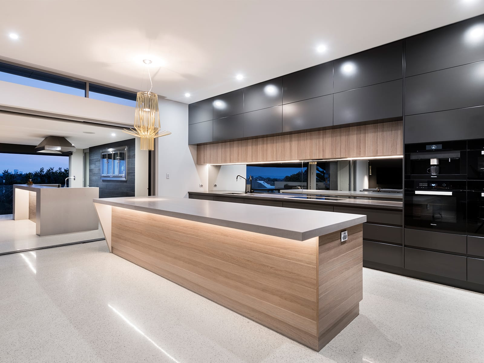 Fulle Exposed Aggregate Decorative Concrete Kitchen- Polished Concrete Perth- DS Grinding