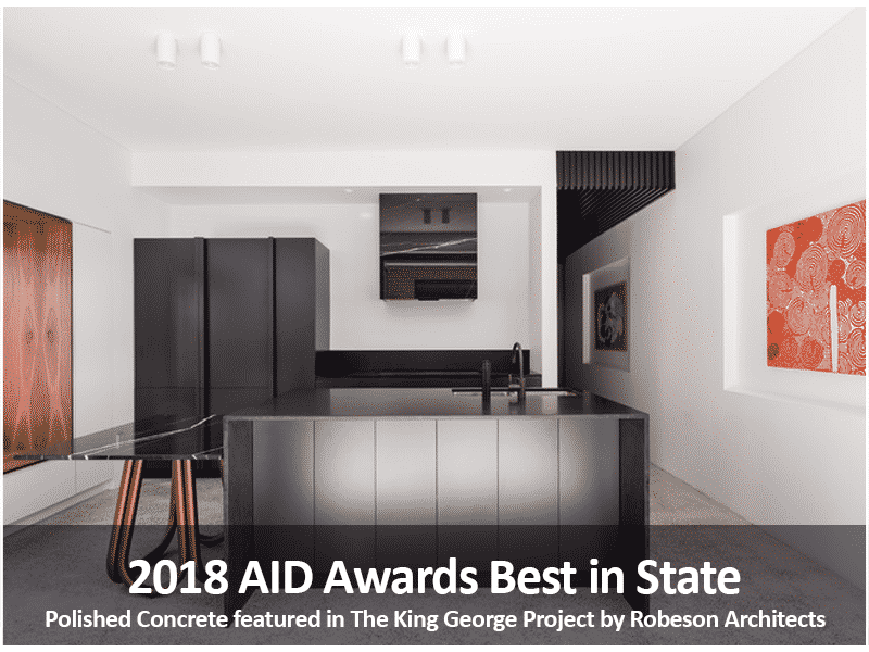 2018 AID Awards Best in State Award Winning Project- Polished Concrete Specialists- DS Grinding